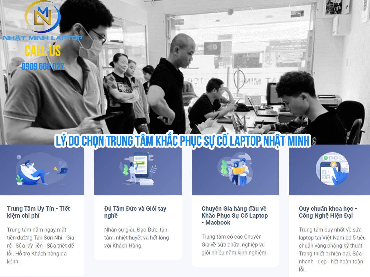 Sửa laptop giá rẻ và uy tín tại Trung Tâm Nhật Minh