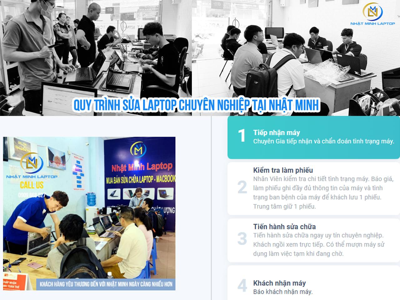Quy Trình Sửa Laptop Chuyên Nghiệp tại Nhật Minh