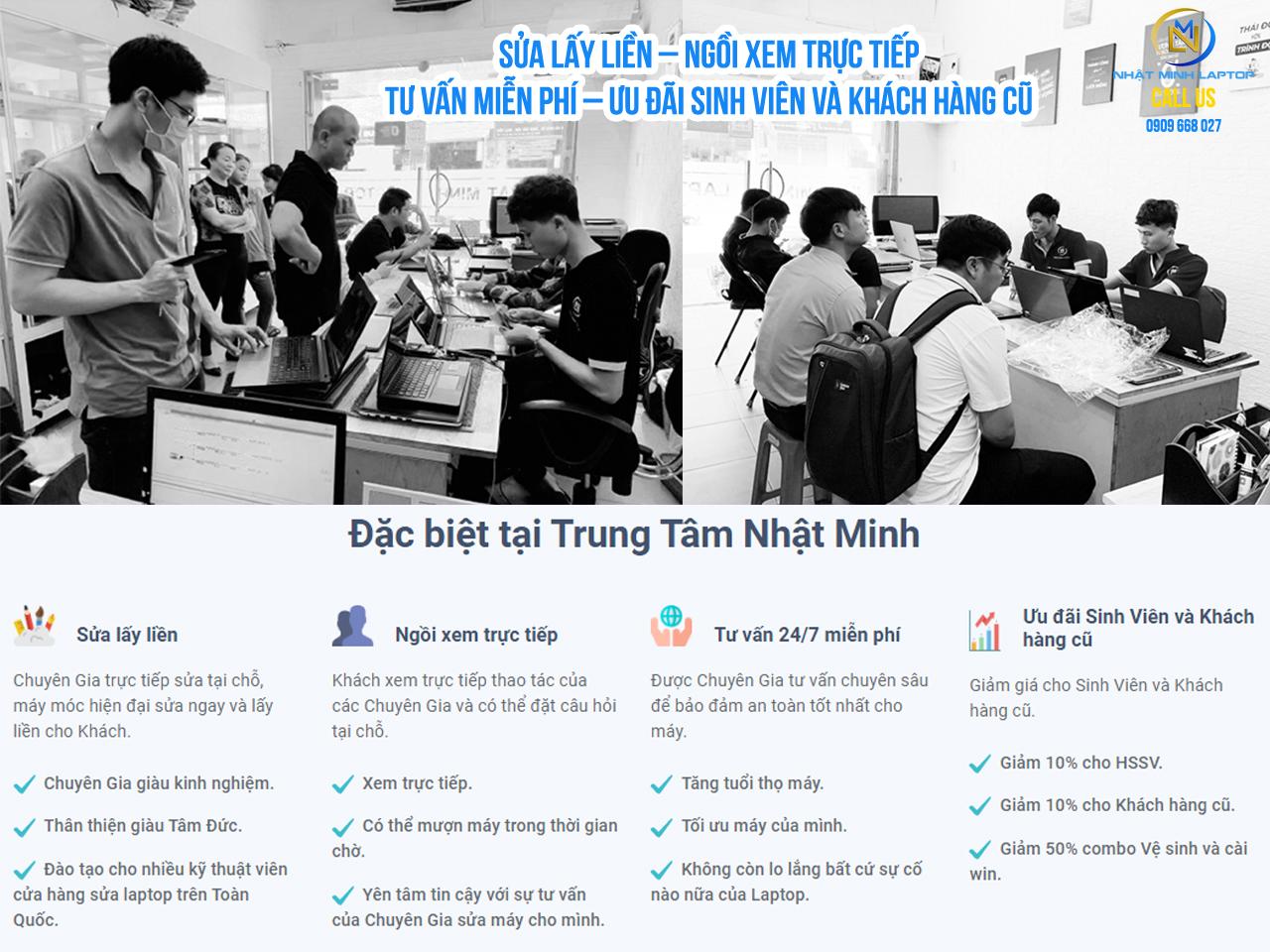 Sửa laptop lấy liền tại Nhật Minh