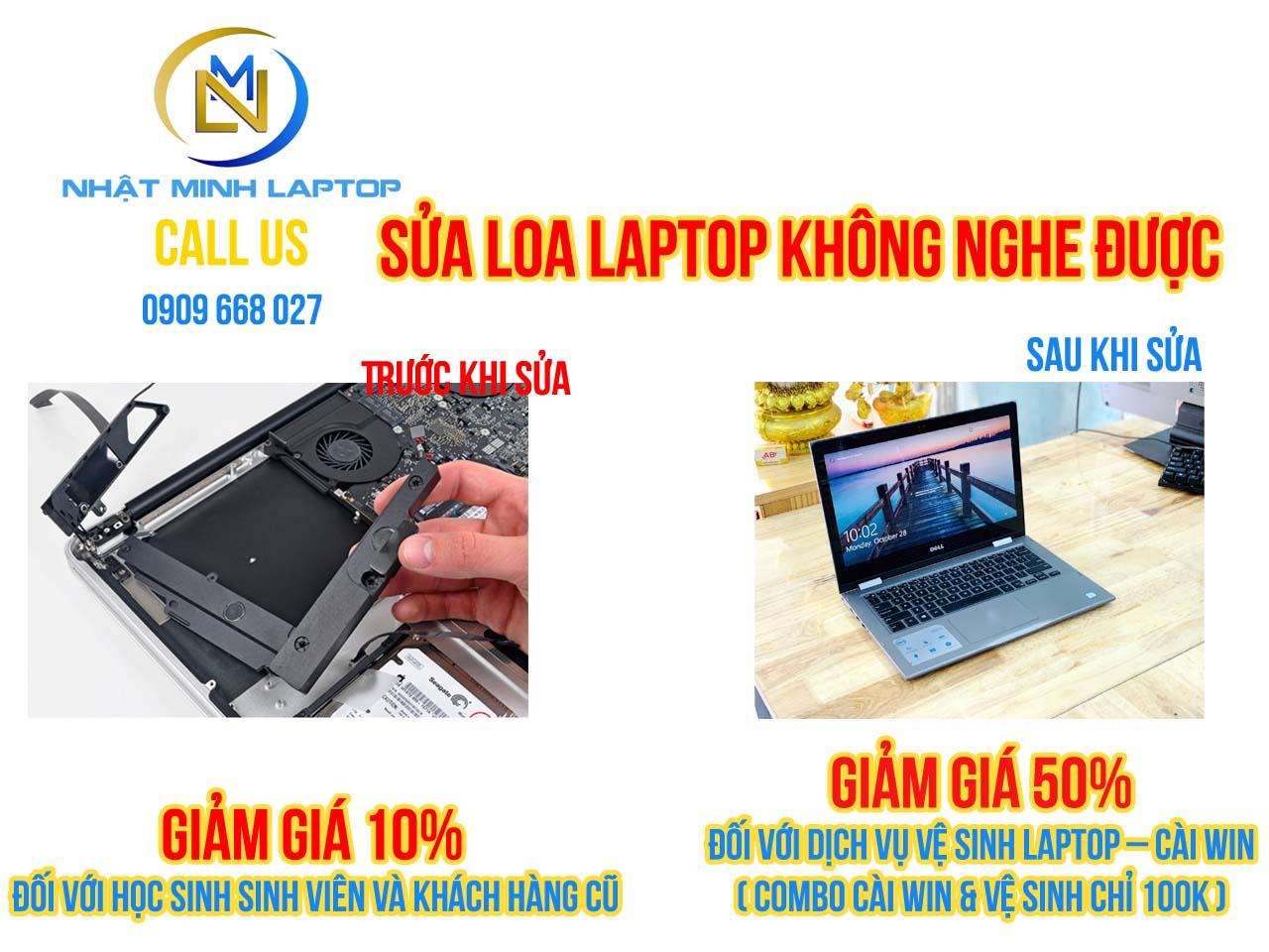 Sửa laptop không nghe được âm thanh tại TPHCM
