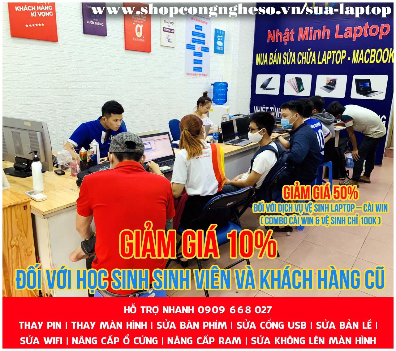 Sửa loa laptop tại Trung Tâm Nhật Minh