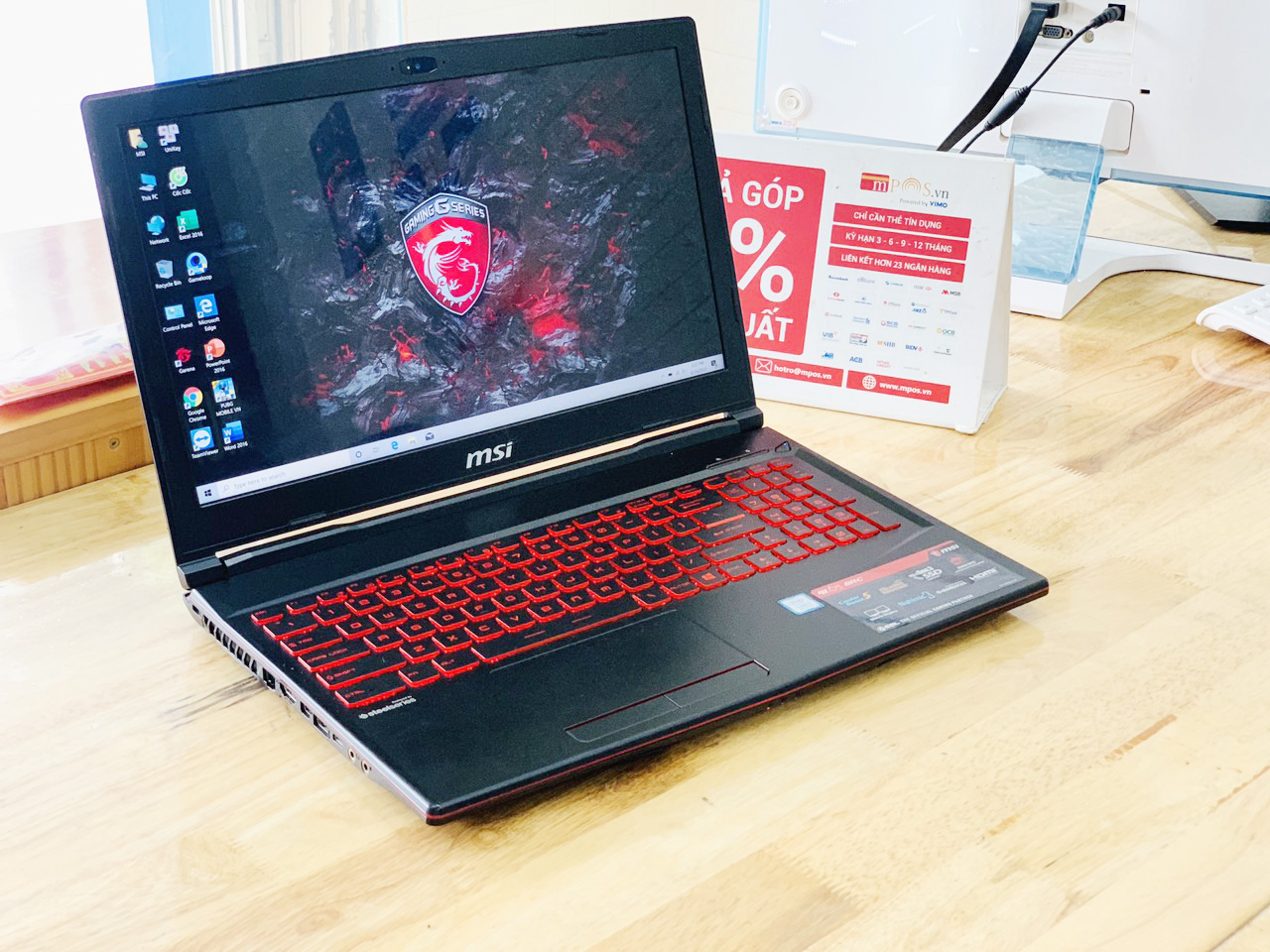 Laptop Gaming MSI GL63 i7-8750H Ram 8G SSD 128G + HDD 1TB Nvidia GTX1050 15.6 inch Full HD