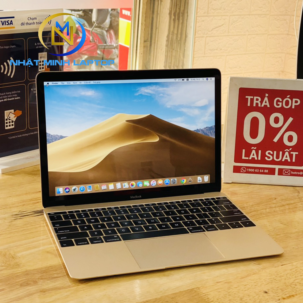 Macbook Retina 12-inch Early 2016 Core M5 Ram 8G SSD 512G Màu Gold Like New