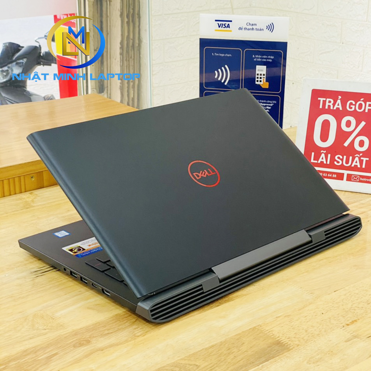 Dell Gaming 7577 i7-7700HQ Ram 8G SSD 128G+HDD 1TB Nvidia GTX 1050ti 15.6 inch Full HD Ips